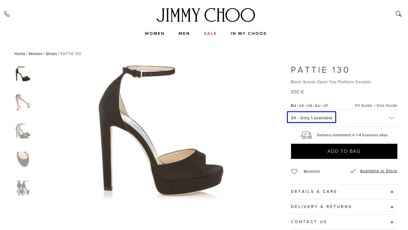 Urgency example e-commerce