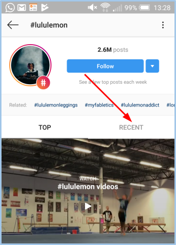 instagram followers recent posts